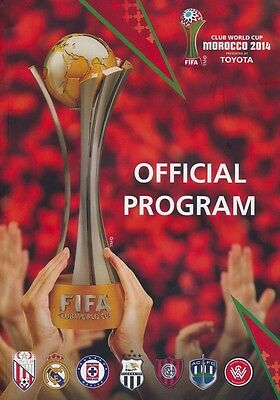 * 2014 FIFA CLUB WORLD CUP TOURNAMENT (MOROCCO) PROGRAMME (ENGLISH LANGUAGE) *