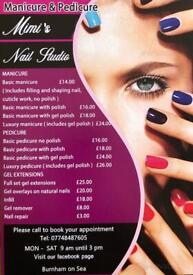 Gel nails/manicure/pedicure