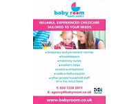 Are you looking for reliable household staff? Get in touch with Baby Room Nanny Agency