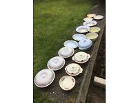 Lot of 21 pots pans table kitchen dinner Pots Pans non stick saucepan