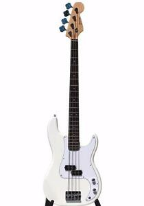 Electric Bass Guitar for beginners White iMEB261 Full size