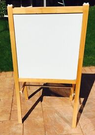 Ikea black board-two sided black board and white board with chalk stand