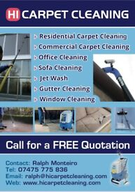 Hi Carpet cleaning/Window cleaning/Gutter cleaning/Conservatory cleaning/Jet wash/End of Tenancy