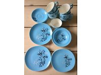 Crown Clarence 'Meadow Mist' 23 piece crockery set VINTAGE RETRO MID-CENTURY COLLECTABLE ANTIQUE