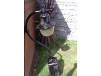 very old garden or street lamp post top