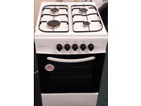 Cookworks 50 cm wide gas cooker in white