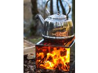 Kettle, Stainless Steel, Petromax 3litre NEW BOXED Campfire Bushcraft Woodburner Campervan Camping