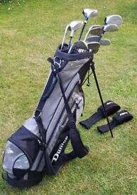 Full Set of Right Handed Adult Golf Clubs and Bag with Stand
