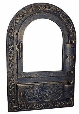Cast Iron Fire Door Clay Bread Oven Pizza Stove Fireplace Gold (PY) 50 x 33