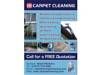 HI Carpet cleaning/Window cleaning/Gutter cleaning/Patio and Driveway cleaning/Jet wash