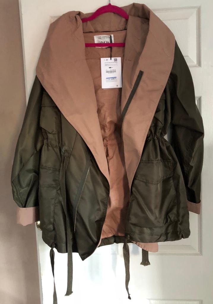 49a42968 Zara Studio Contrast Parka Coat Jacket RRP £179.00 | in East Boldon ...