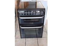 Black / silver Cannon C60EKK 60cm, double oven electric cooker WARRANTY GIVEN