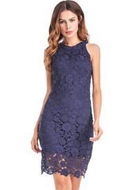 Size 10-12 navy blue lace dress