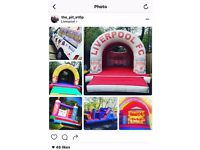 Bouncey castle business with van