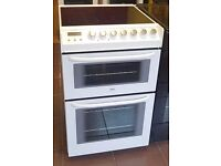 Zanussi 55cm Ceramic Cooker, Double Fan Assisted Oven / Grill - 6 Months Warranty