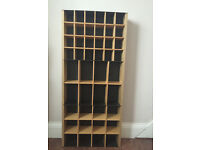 Display Unit with shelving made of solid wood & metal