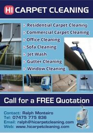 Hi Carpet Cleaning/Window Cleaning/Gutter Cleaning/Jet Wash/Conservatory cleaning/End of Tenancy