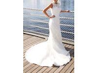 Mark Lesley Ivory Wedding Dress. Size 6-8