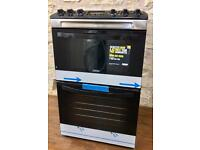 BRAND NEW ZANUSSI 55CM FREESTANDING DOUBLE CAVITY ELECTRIC COOKER IN BLACK ABSOLUTE BARGAIN ...!!!