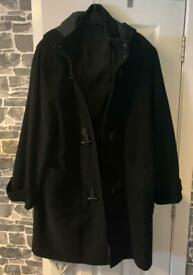 Men's Black Duffle Coat.