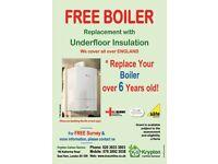 Free Boiler Grant with Underfloor Insulation