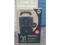 1 x NEW RCF 400 Watt 8 inch Active PA Speaker or Monitor ART 708A Mk2 - NEW - 3 Year Warranty