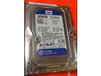 Brand New Sealed in box Western Digital Blue 500GB SATA 3.5 WD5000AAKX