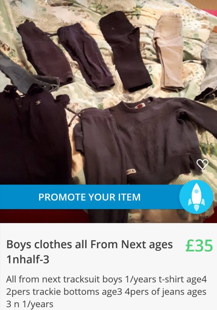 Boys Next clothes 1/year to 3years