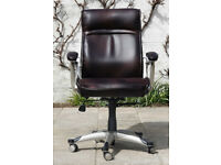 Burnt Sienna 455-555mm Seat Height Bonded Leather Executive Office