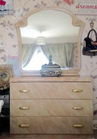 Dressing table and Large Mirror