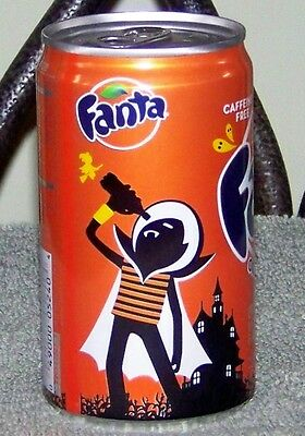 NM 2011 USA LE FANTA ORANGE HALLOWEEN VAMPIRE SLIM 7.5oz 222mL FULL CAN w/CONTEN