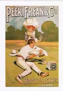 Poster Advert Art Postcard PEEK FREAN Biscuits & Cakes Picnic London Advertise