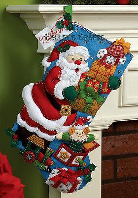 Bucilla Gifts From Santa 18 Felt Christmas Stocking Kit 86304 2012 Kit