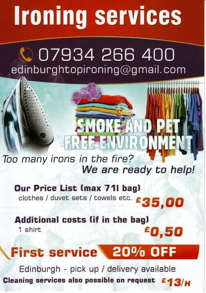 Ironing / domestic cleaning services