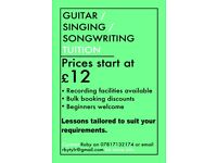 Guitar / Singing / Songwriting tuition