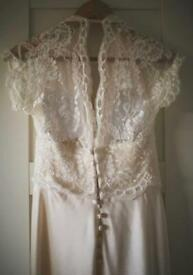 Beautiful Ivory lace fabric 120cm x 240cm approx