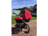 Silver cross pram (pioneer pushchair and carrycot)