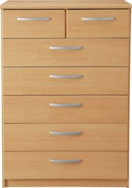 New Hallingford 5+2 Chest - Beech