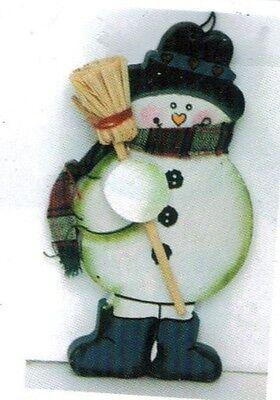 Winter Christmas Decor - snowman broom ornament snowmen winter seasonal christmas wall art decor sign