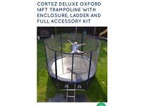 Cortez 14 feet trampoline with ladder