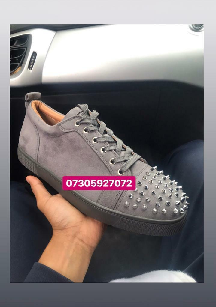 newest a30ae 36aaf Christian Louboutin men's spiked trainers low grey | in Moseley, West  Midlands | Gumtree
