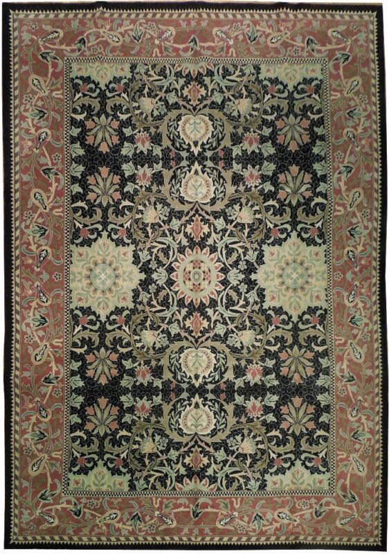 10x14 French Design New Genuine Handmade Rug
