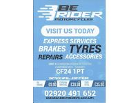 MOTORCLYCLES - EXPRESS SERVICES / BRAKES / TYRES / REPAIRS / ACCESSORIES
