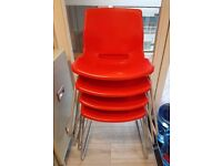 4 Red Chairs - FREE