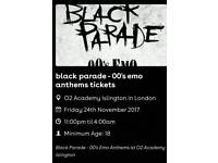 Black Parade - 00's Emo Anthems 24th Nov 2017 | O2 Academy Islington, London