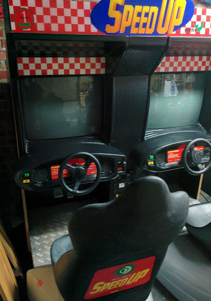 Speed Up Twin Sit In Arcade Racing Machine Namco Man