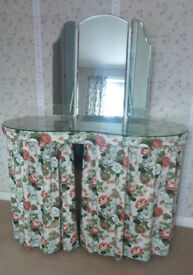 1960's Vintage Kidney Shaped Dressing Table