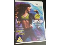 Wii Zumba fitness 2 and belt