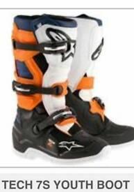 Motorcross boots uk4 us5