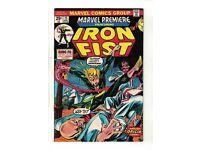 Marvel Premiere #15   1st Appearance of Iron Fist inc. Value Stamp   Marvel 1974
